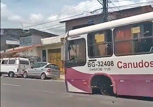 Belém: Roda de ônibus se solta na Avenida Conselheiro Furtado nesta sexta-feira – Vídeo