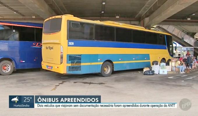 SP: Fiscalização da ANTT apreende dois ônibus clandestinos na Rodovia Anhanguera, em Americana