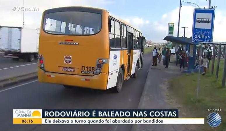 Salvador: Rodoviário é baleado durante tentativa de assalto na região do Porto Seco Pirajá