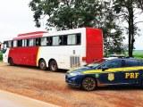 MT: PRF prende homem que conduzia ônibus com série de irregularidades em Sorriso