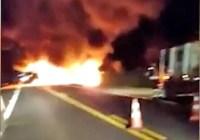 MS: Ônibus da Eucatur pega fogo na BR-163 entre Nova Alvorada do Sul e Campo Grande