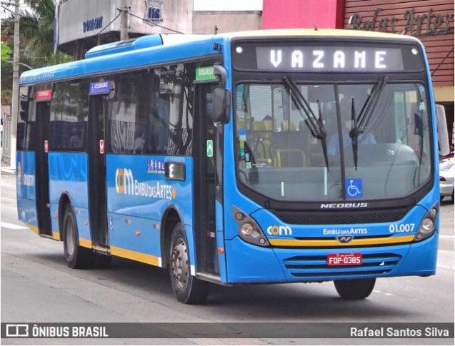 SP: Embu das Artes mantém gratuidade a idosos a partir de 60 anos no transporte municipal