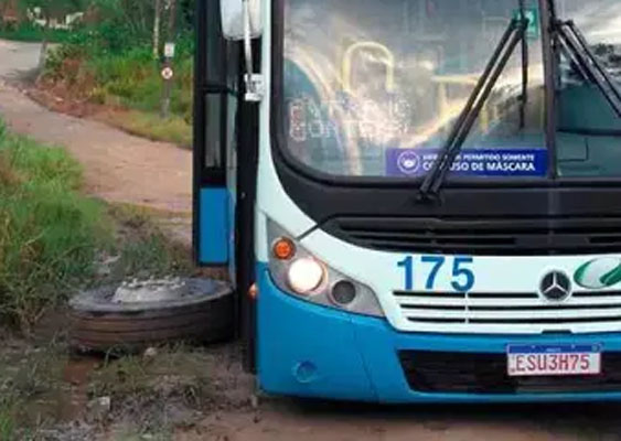 SP: Ônibus da empresa Rigras Transportes perde a roda em Ribeirão Pires