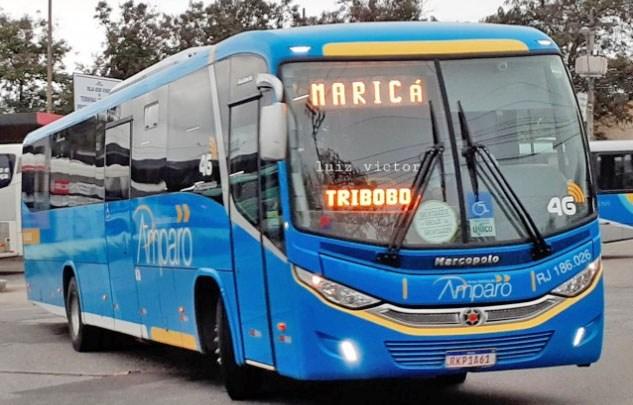 Ônibus da Viação Amparo é assaltado em Maricá na Região Metropolitana do Rio