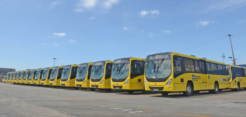 Marcopolo e a Volvo fizeram o embarque de 30 ônibus para a Guatemala