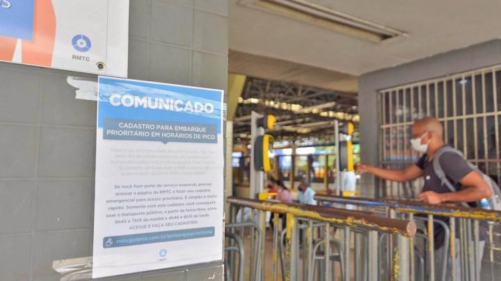 Goiânia: Redução de passageiros chega a 53% na Região Metropolitana, diz Governo de Goiás