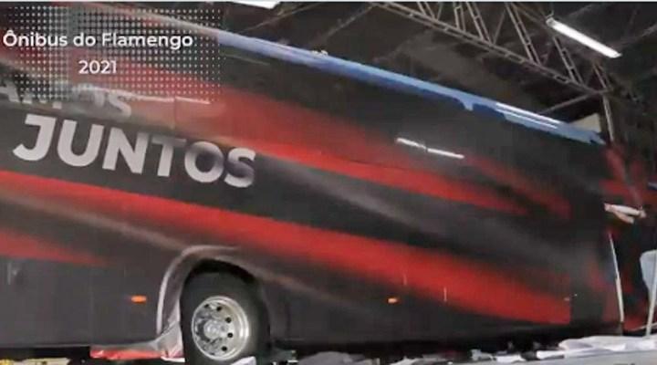 Vídeo: Flamengo divulga a nova identidade visual de seu ônibus Paradiso G7 1200