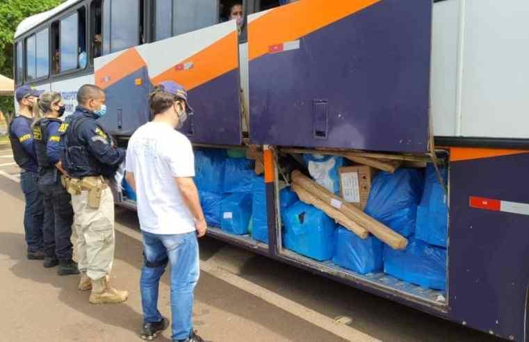 Vídeo: Fiscalização apreende três ônibus na BR-277 em Santa Terezinha de Itaipu e em Foz do Iguaçu