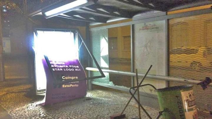 Curitiba informa que vandalismo cresceu mais de 30% no transporte coletivo