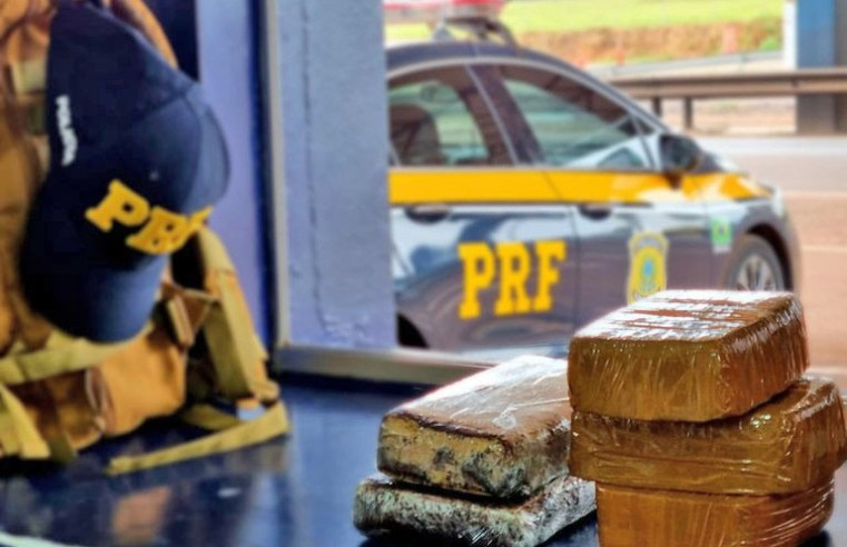 MT: PRF apreende entorpecentes após fiscalizar dois ônibus na BR-163 em Rondonópolis