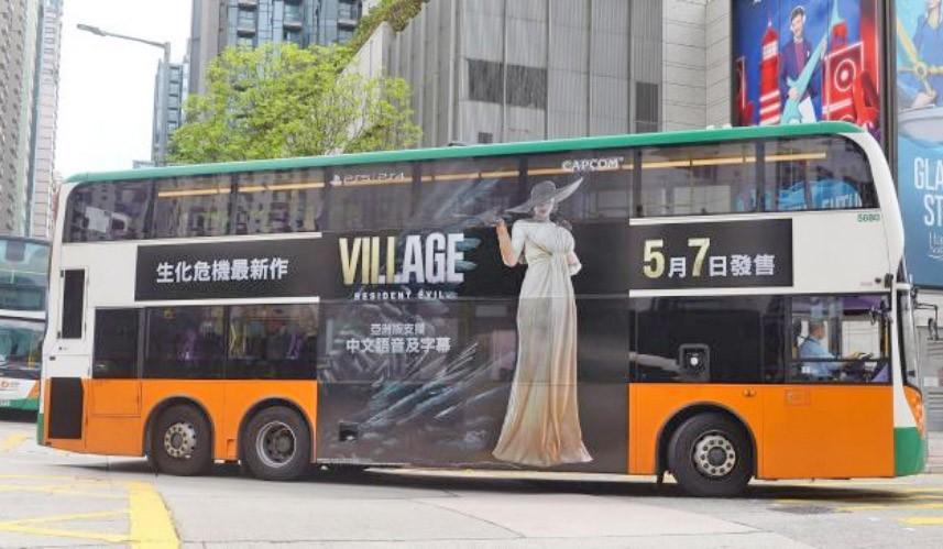 China: Game Resident Evil Village ganha destaque em ônibus em Hong Kong