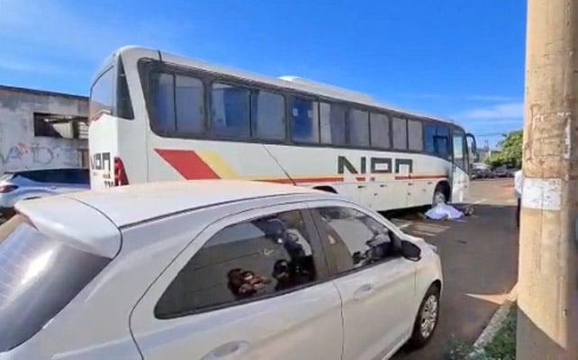 MS: Acidente entre moto e ônibus deixa um morto nesta manhã em Campo Grande