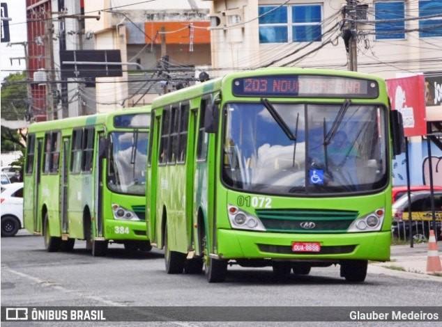 Bandido assalta ônibus em Teresina e causa momento de pânico durante arrastão