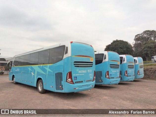 Expresso Recreio renova com 4 novos ônibus Viaggio G7 1050 Mercedes-Benz 0-500 R