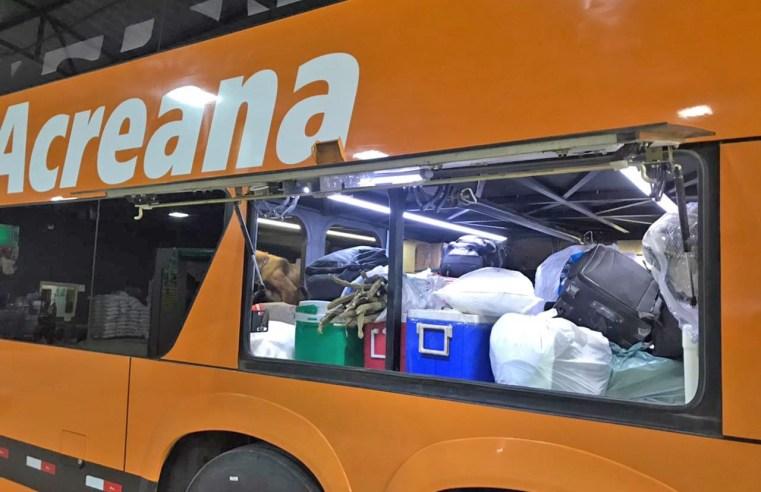Policia Civil e Polícia Rodoviária Federal aprendem entorpecentes em ônibus no Acre