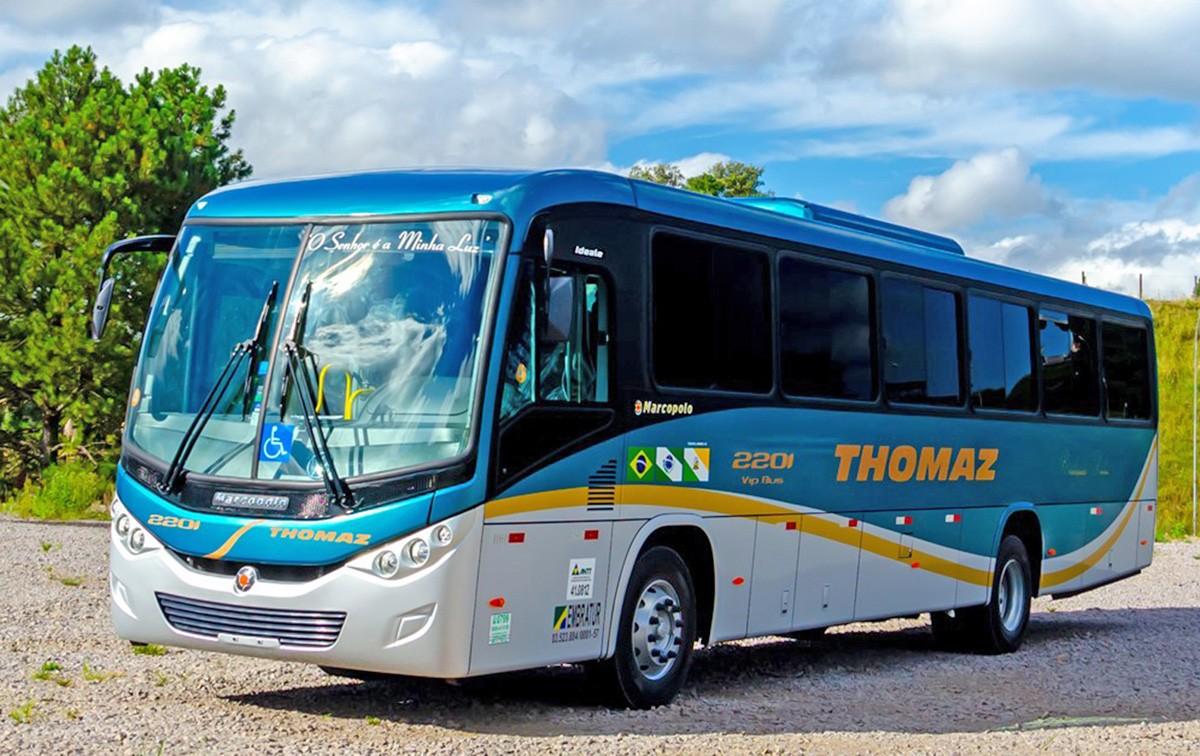 PR: Transportes Thomaz renova frota com 10 novos ônibus Ideale 800 Volks 17-230 EOD