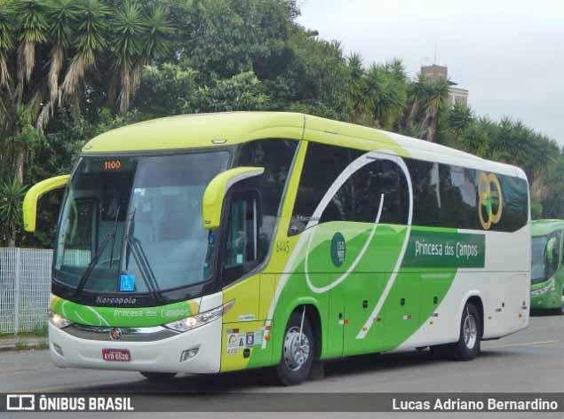 PR: Acidente entre carreta e ônibus da Princesa dos Campos chama a atenção na BR-153