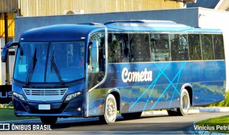 SC: Surgem novas imagens dos novos ônibus Busscar da Viação Cometa e Auto Viação 1001