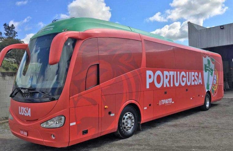 São Paulo: Portuguesa apresenta novo ônibus