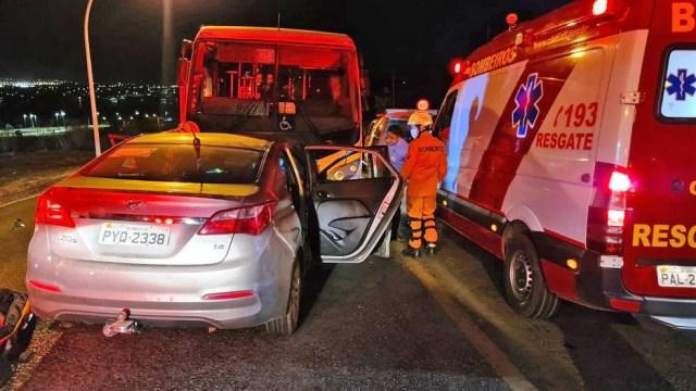 DF: Acidente entre carro e micro-ônibus deixa criança e idoso gravemente feridos - revistadoonibus