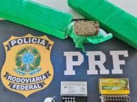 MG: PRF apreende armas e entorpecentes em ônibus na BR-365 em Patos de Minas - revistadoonibus
