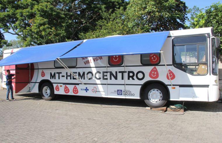 Cuiabá: Ônibus do MT Hemocentro estará na próxima semana na sede da Escola de Governo