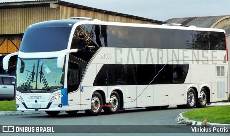 SC: Surge imagem do primeiro Busscar Vissta Buss DD Scania 8x2 da Catarinense em Joinville - revistadoonibus