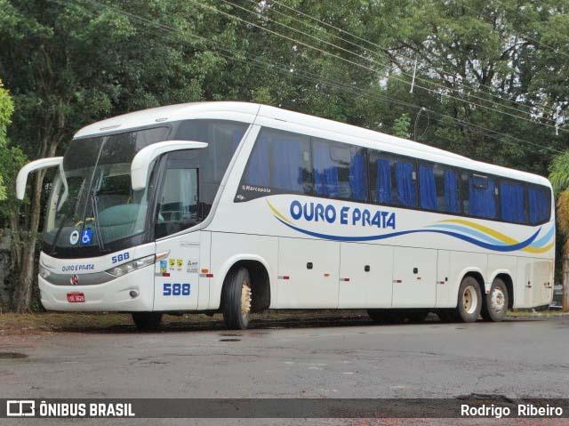 RS: Ônibus da Ouro e Prata sai da pista na BR-468 na manhã desta segunda-feira - revistadoonibus