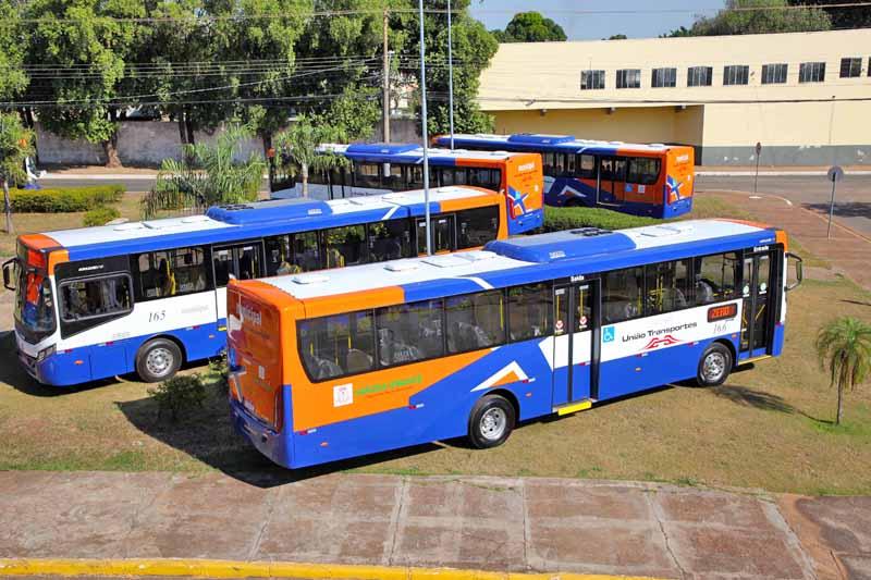 MT: Várzea Grande recebe 10 novos ônibus já adaptados para atender o sistema BRT