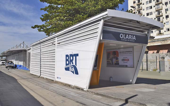 Prefeitura do Rio informa que reabriu a estação Olaria, no corredor Transcarioca