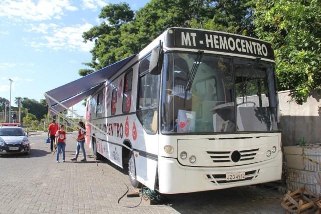 Cuiabá: Ônibus do MT Hemocentro estará na próxima semana na sede da Escola de Governo - revistadoonibus
