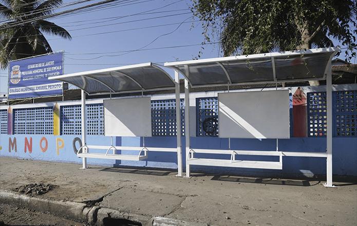 RJ: São Gonçalo reforma abrigos em pontos de ônibus