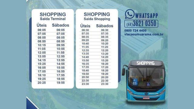 PR: Viação Umuarama divulga horários de nova linha de ônibus - revistadoonibus