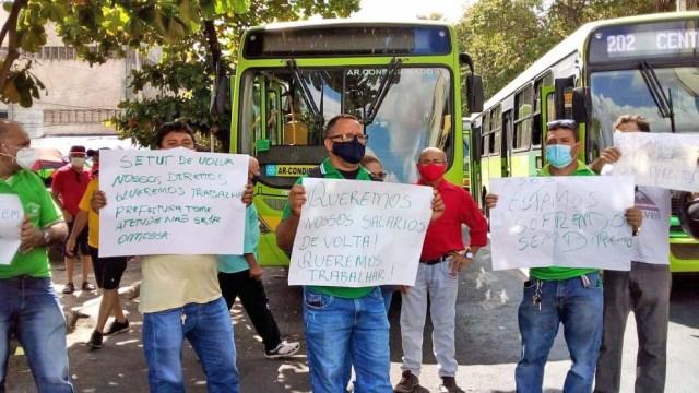 Rodoviários de Teresina realizam manifestação e paralisam o transporte nesta manhã - revistadoonibus