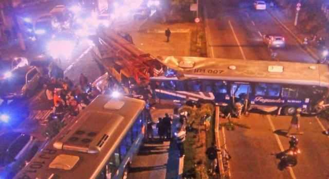 Vídeo: Acidente entre caminhão, ônibus e carros deixa um morto e 11 feridos em Niterói - revistadoonibus
