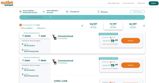 Outlet de Passagens cria o OutDay e oferece viagens de ônibus a partir de R$ 19,99 ida e volta - revistadoonibus