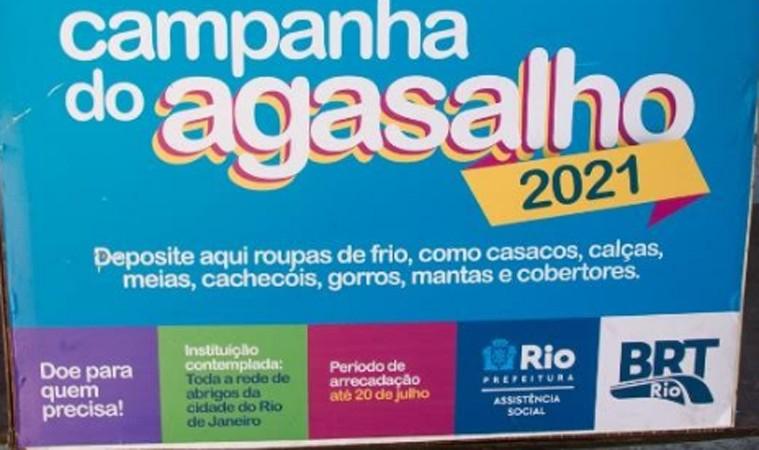 Rio: Campanha do agasalho arrecadou uma tonelada de peças