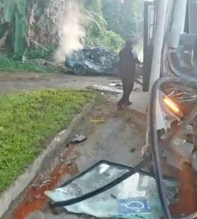 RJ: Acidente entre carros e ônibus deixa um morto na Rio x Santos em Paraty - revistadoonibus