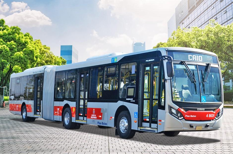 São Paulo: Express Transportes Urbanos renova parte da frota com 8 novos ônibus Caio