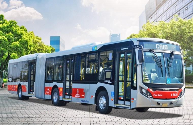 São Paulo: Express Transportes Urbanos renova parte da frota com 8 novos ônibus Caio - revistadoonibus