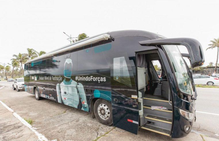 Maceió: Ônibus da Vacina começa a semana no Mercado do Artesanato