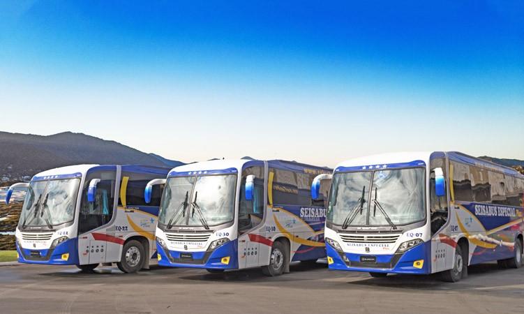 El Salvador: SeisaBus renova com cinco novos ônibus El Buss 320L