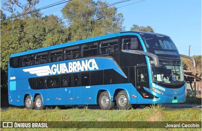 Marcopolo G8 da Aguia Branca surge em testes em Caxias do Sul