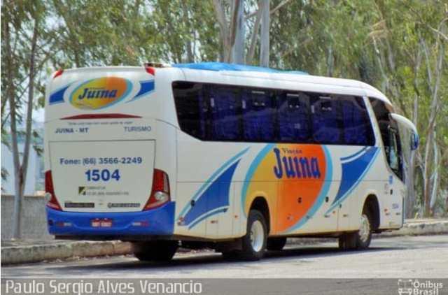 Ônibus da Viação Juína tomba na MT-170 nas proximidades de Castanheira - revistadoonibus