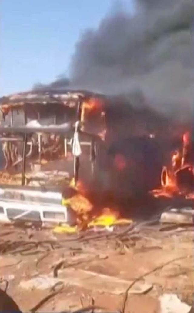 MG: Ônibus rodoviário é incendiado em Uberaba nesta segunda-feira - revistadoonibus