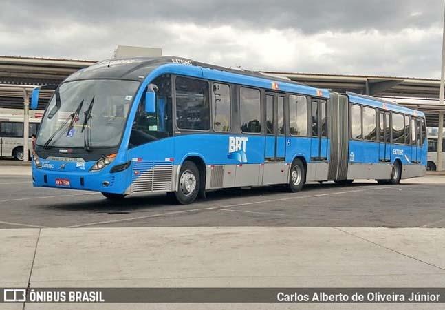Vídeo: Ônibus do BRT Rio tem princípio de incêndio na Zona Oeste da cidade