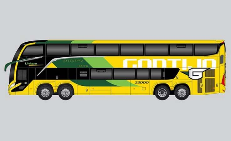 MG: Simulação de pintura da Gontijo Transportes no novo Marcopolo G8 cria expectativas em admiradores de ônibus