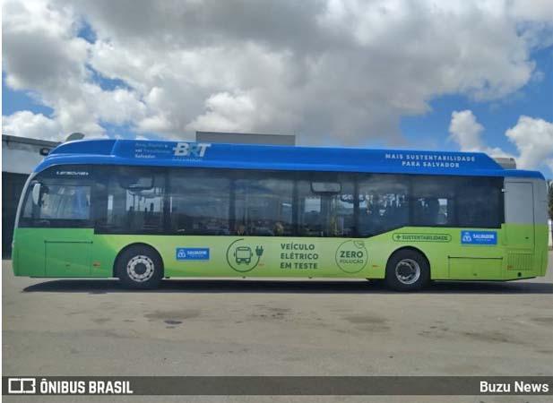 Salvador inicia testes com ônibus elétricos nesta terça-feira