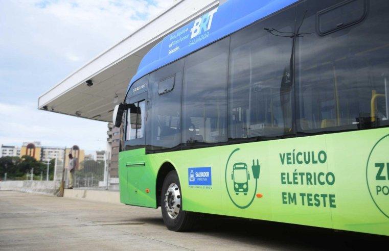 Salvador testará ônibus elétrico durante o mês de setembro