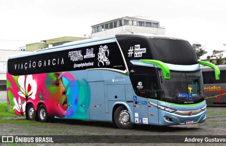 Viação Garcia participa do 6º Festival de Grafitti de Londrina
